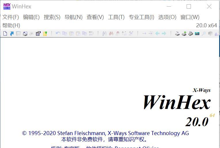 WinHex v20 绿色便携单文件中文版 免费下载