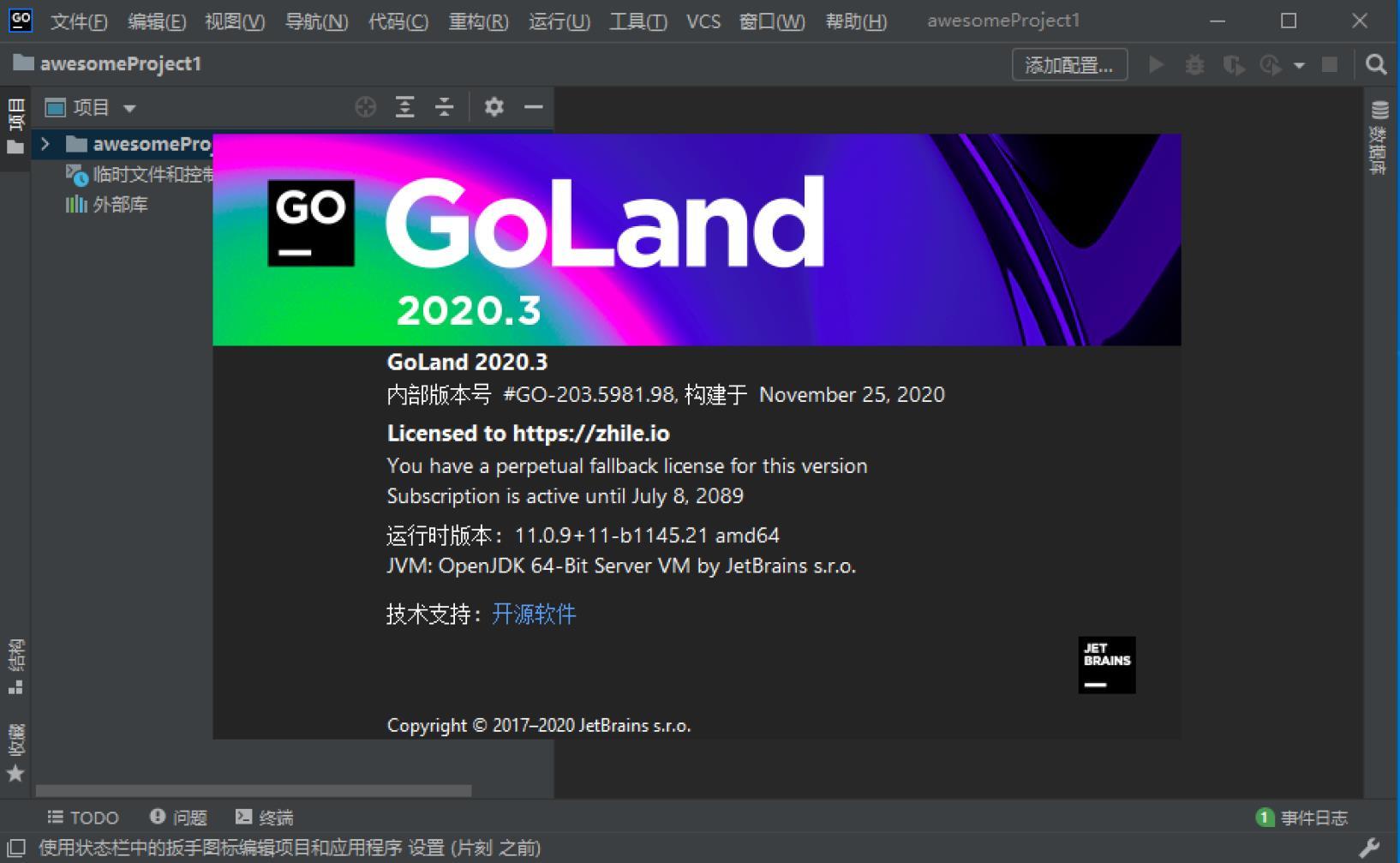 GoLand2021.1.3 GoLand2020.2.3破解版