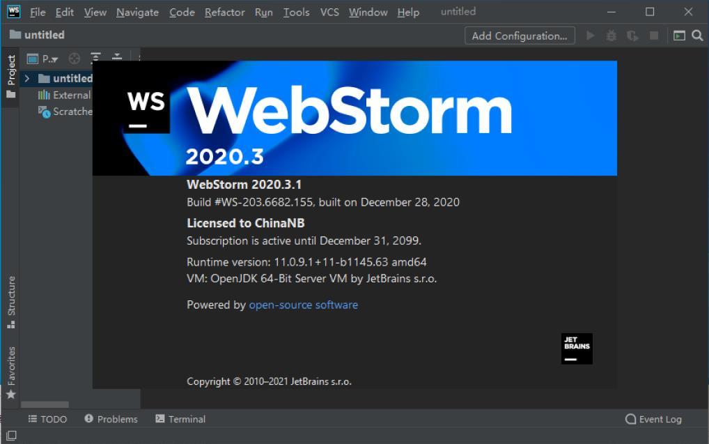 WebStorm2021.2.1 WebStorm2021.2.1激活码